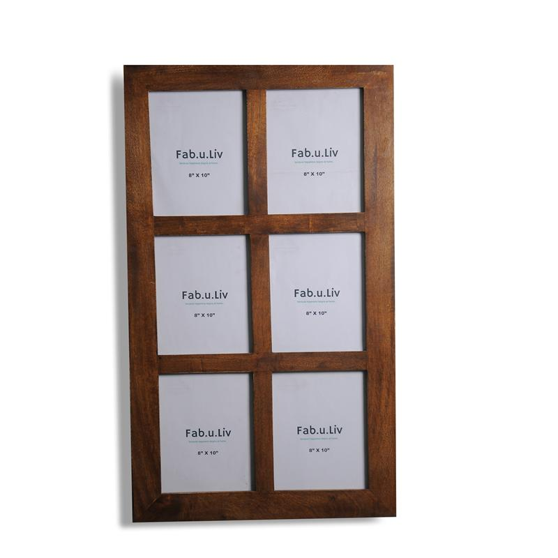 Solid Wood Window Photo Frame for 6