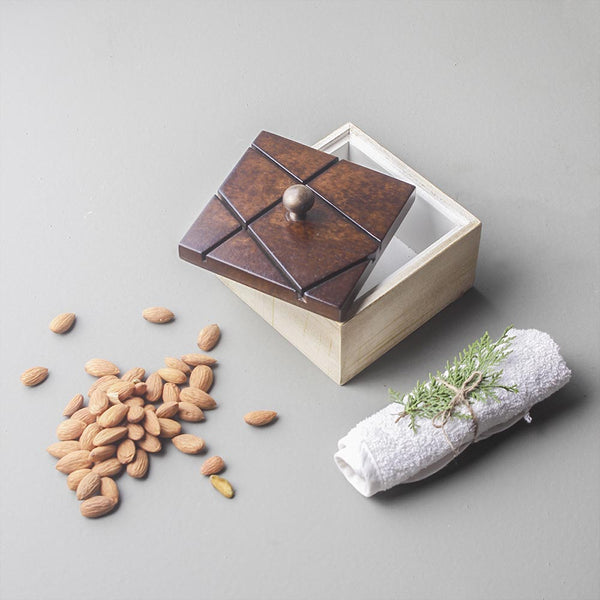 Coffee Square Wooden Box
