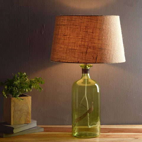 Buy Luce Green Table Lamp Online in India