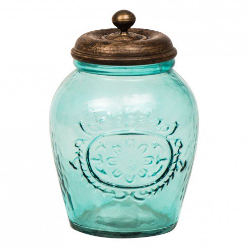 Alicia Aqua Glass Container 3