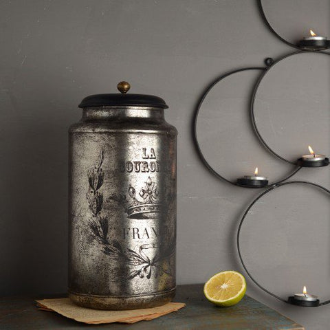 FABULIV Vintage Silver Antique Container 1
