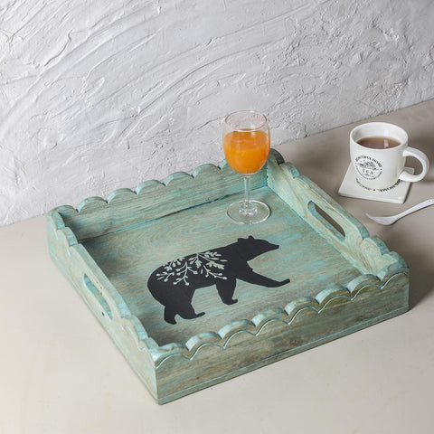 Simba Distress Green Tray