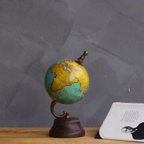 Decorative Vintage Turq Small Globe