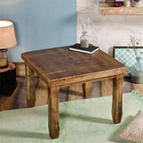 Baroque Natural Square End Table