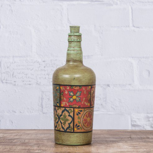 Buy Floral Painted decorative bottle online