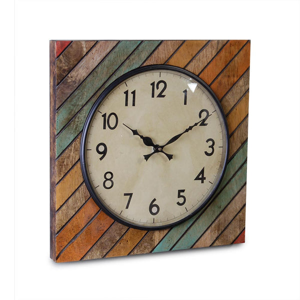 Elmira Wood 15 Square Wall Clock b