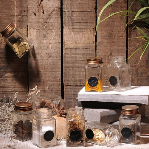 Set of 9 Small Spices Jars 1
