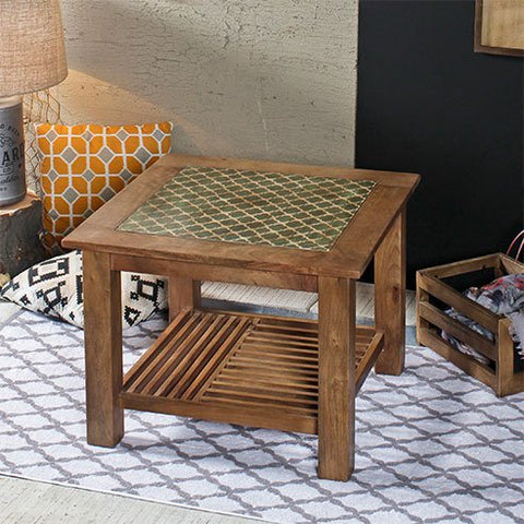 Sameul Vintage Square End Table