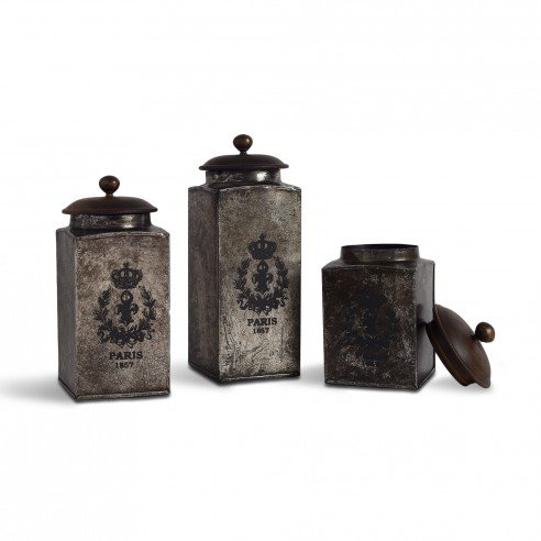 FABULIV VINTAGE Silver Antique Boxes (Set of 3)2