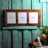 Solid Wood Window Photo Frame for 3