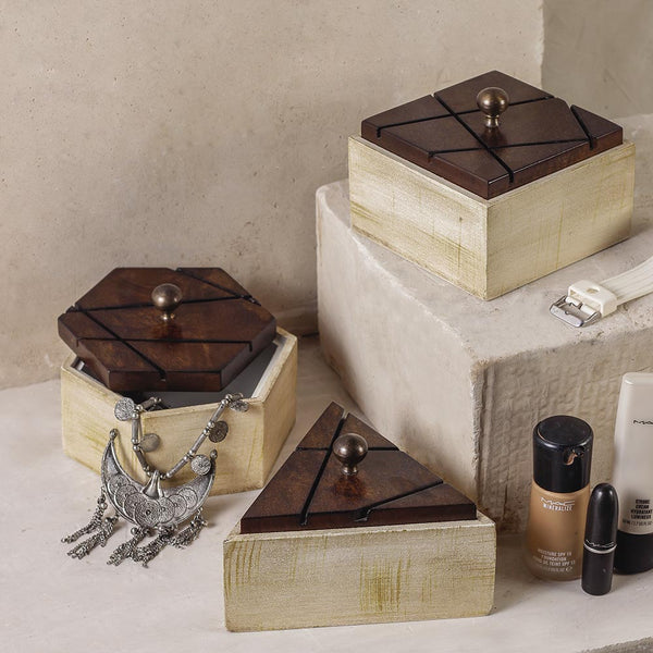 Mocha Delight Wooden Boxes Boxes 3 Sizes