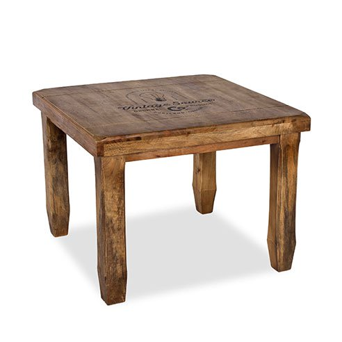 Baroque Natural Square End Table 2