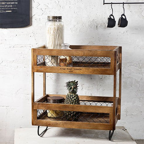 Alex wooden floor shelf