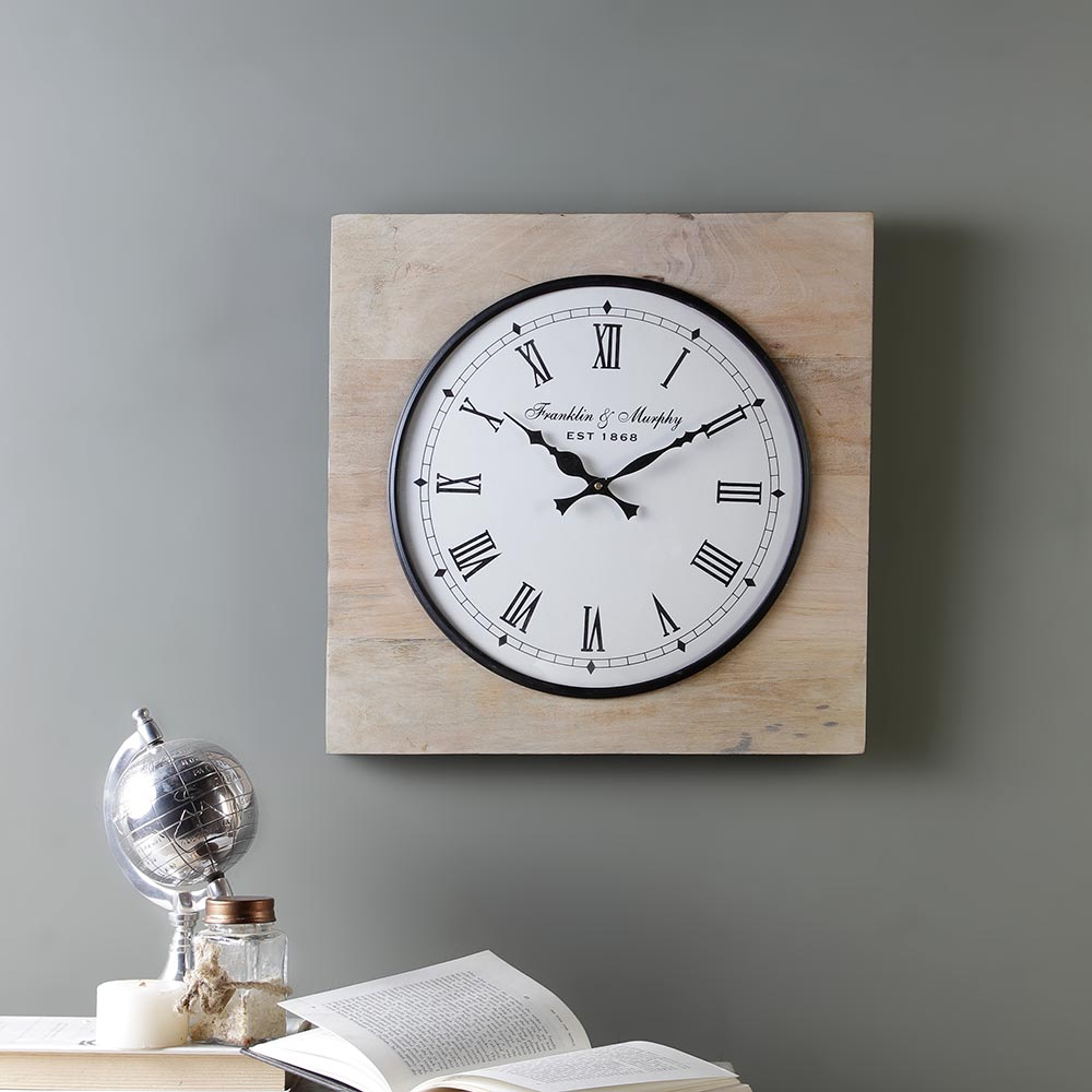 Madras Ivory 15 Square Wall Clock