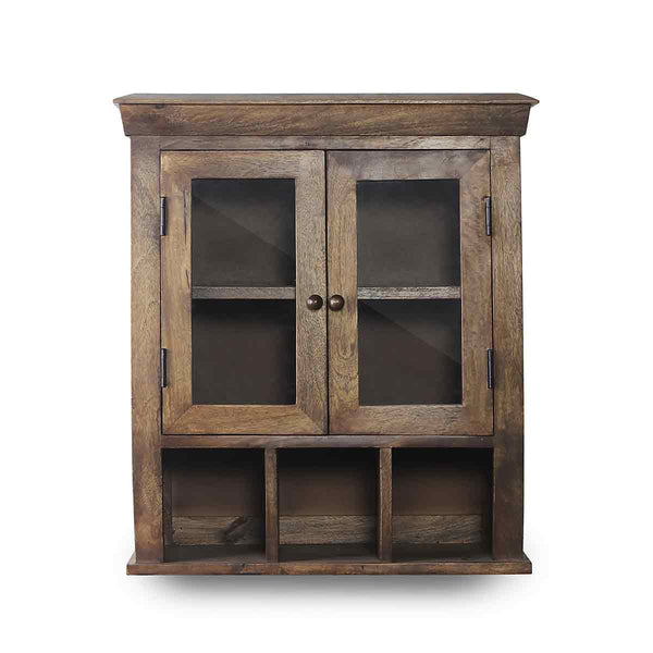 Solid Wood Double Door Bathroom Cabinet 2