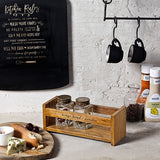 Rustic Wooden Spice Holder