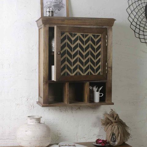 Alfredo Solid Wood Hand Painted Wall Shelve 1