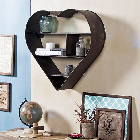Vintage Rustic Metal Wall Shelf