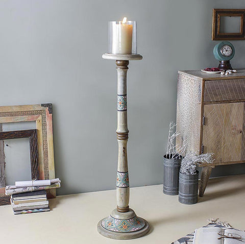 Madeline Rustic Floor Candle Stand