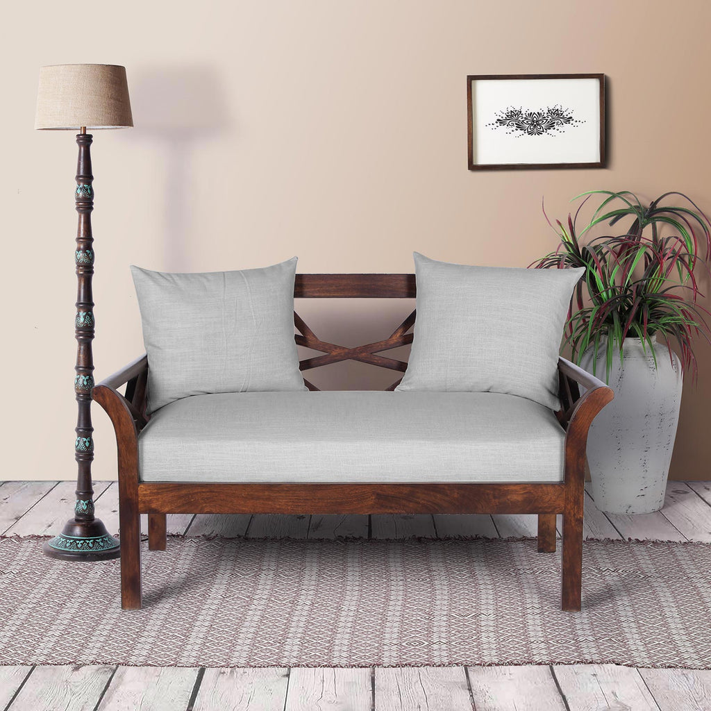 Two Seater Wooden Sofa