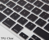 Keyboard Cover Transparent for Apple For Macbook Air 11/Retina 12/Air 13 15/Pro 13 15/Retina 13