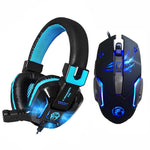 Pro Gaming Headset Headphones Earphone with Mic LED Light