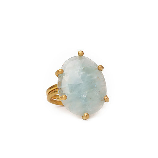 Claws Ring with Aquamarine