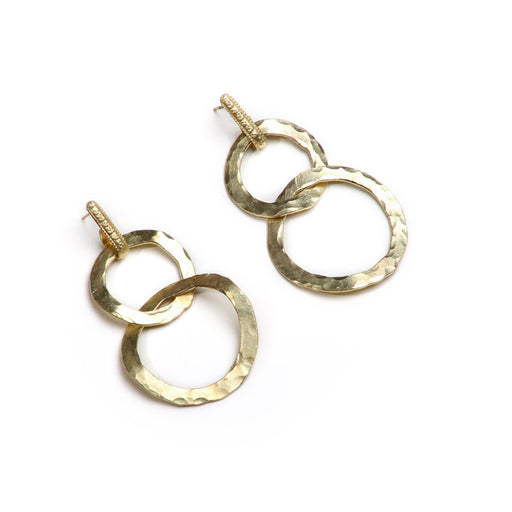 Hammered Wavy Hoops Earrings