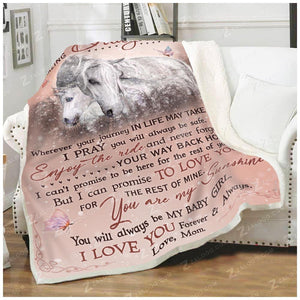 Blanket - Horse - To My Amazing Daughter - I Love You