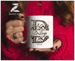 Zalooo White Mug 11 Oz Family Personalized Name