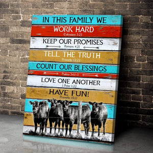 Zalooo Au In This Family We Angus Cow Wall Art Canvas - Zalooo.com Custom Wall Art Canvas