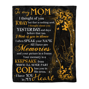 Fleece Blanket - To my Mom - In my heart - yenyenstore