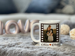 Zalooo White Mug 11 Oz Only love Meeting you was fate Personalized Photo And Name