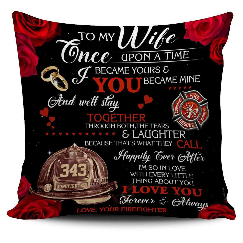 Pillow Cover - Firefighter - Happily Ever After - yenyenstore