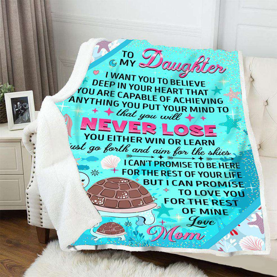 BLANKET - Turtle - To My Daughter - yenyenstore