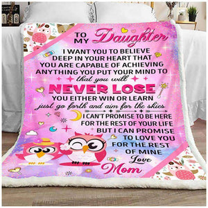 BLANKET - Owl  - To My Daughter - yenyenstore