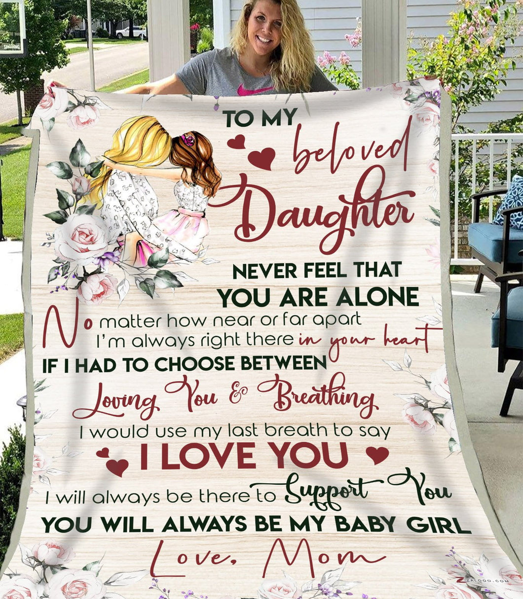 Blanket To My Beloved Daughter My baby girl