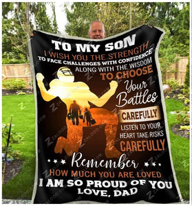 Blanket - Football - To My Son - I Wish