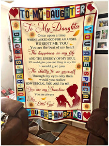 Blanket To my Daughter I asked God for an angel - Zalooo.com Custom Wall Art Canvas