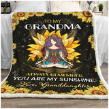 Blanket - Hippie - To My Grandma - Love Granddaughter