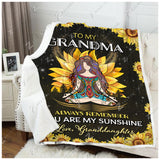 Blanket Hippie To My Grandma Love Granddaughter