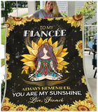 Blanket - Hippie - To My Fiancee - My Sunshine