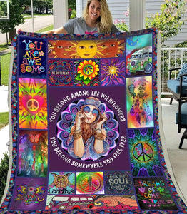 Blanket Hippie You belong - Zalooo.com Custom Wall Art Canvas