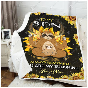 Blanket Sloth To My Son My Sunshine