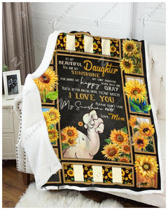 Blanket - Elephant - You Are My Sunshine - Love Mom