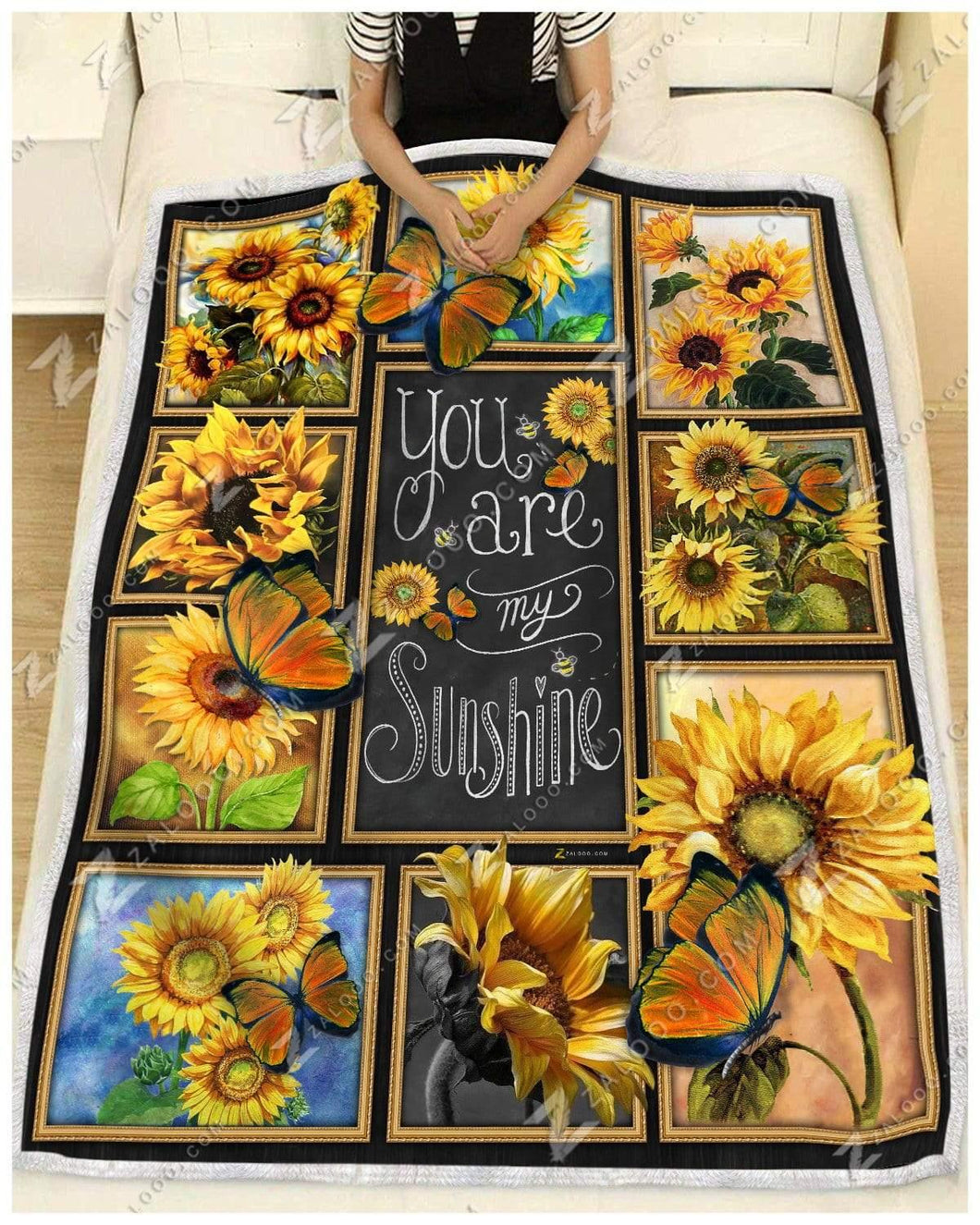 Blanket Butterfly You Are My Sunshine - Zalooo.com Custom Wall Art Canvas