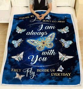 Blanket - Butterfly - I am always with you