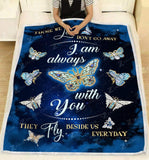 Blanket Butterfly I am always with you (V2) - Zalooo.com Custom Wall Art Canvas