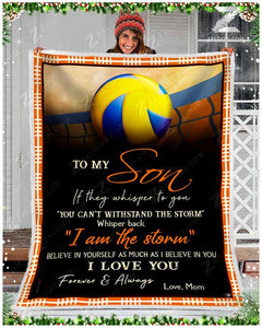 Blanket - Volleyball - To My Son - I Love You