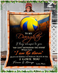 Blanket - Volleyball - To My Daughter - I Love You